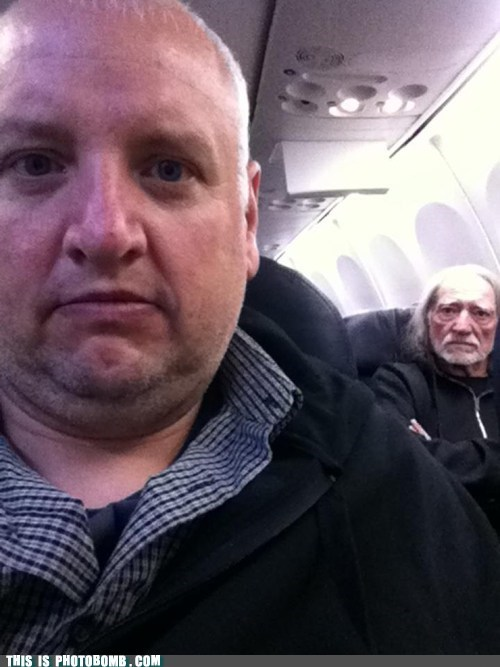 best of week celeb Celebrity Edition plane self shot willie nelson