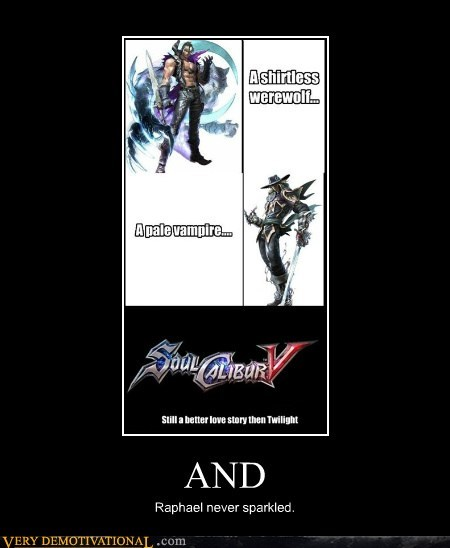 hilarious,soul calibur v,Sparkle,twilight,vampire,werewolf