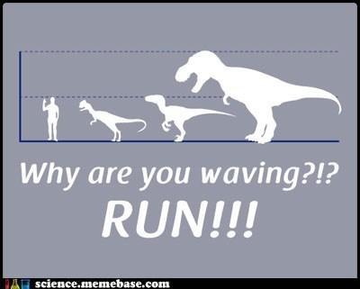 comparison dinosaurs Memes paleontology size - 5624035584