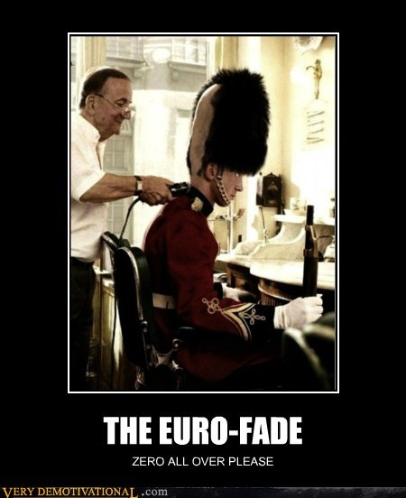 euro fade haircut hilarious palace guard