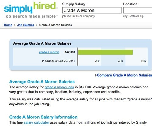 average salary grade a morons overpaid they make too much - 5624267520