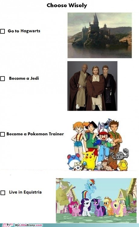 equestria Harry Potter meme pokemon trainer pop culture star wars the last option - 5624617984