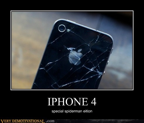broken hilarious iphone Spider-Man spider web
