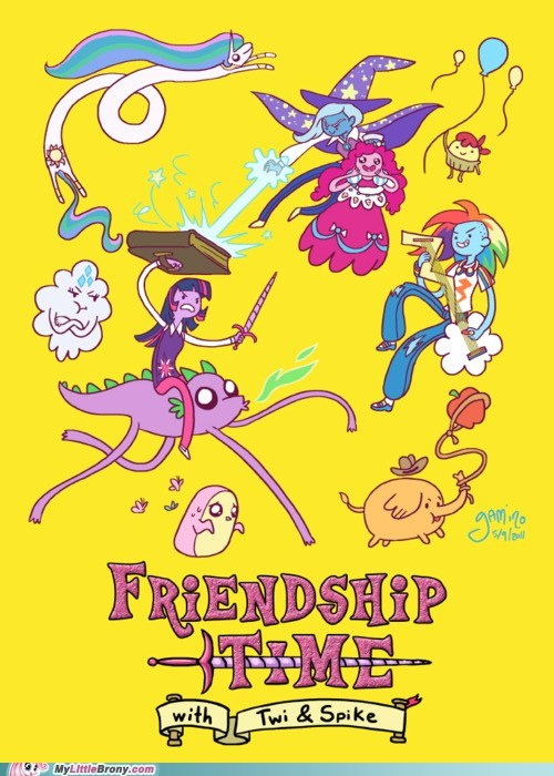 adventure time awesome best of week crossover friendship time - 5625151488