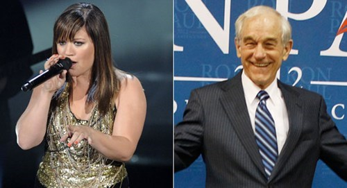 2012 Presidential Race,celeb,kelly clarkson,michelle branch,politics,Ron Paul
