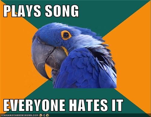 hate Music Paranoid Parrot song - 5625398528