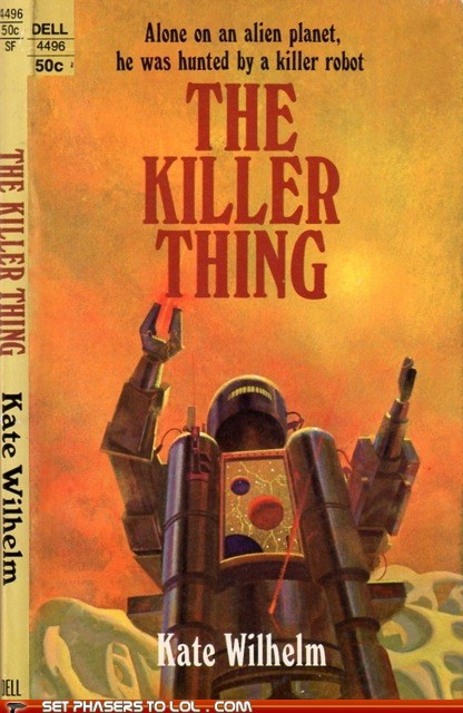 book covers,books,cover art,killer,laser,robot,science fiction,thing,wtf
