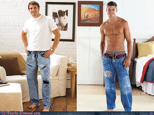 blue jeans casual sleeper Hall of Fame pajama jeans pajamas - 5625725696
