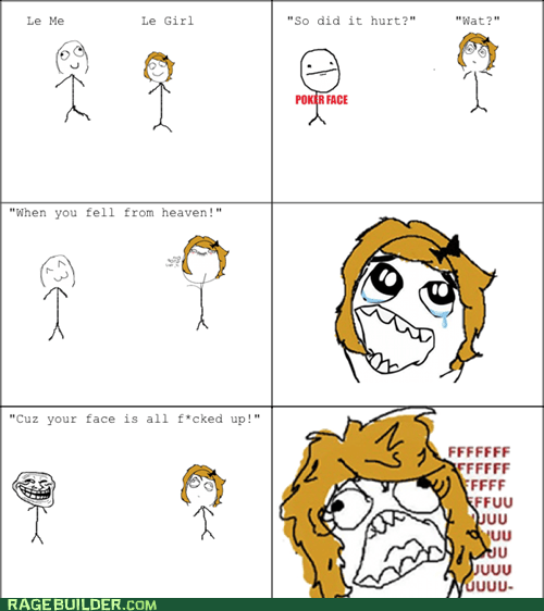 best of week,compliments,fu gal,poker face,Rage Comics,troll