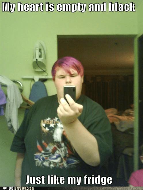 emo empty fat fat guy fridge random person wtf - 5625729536