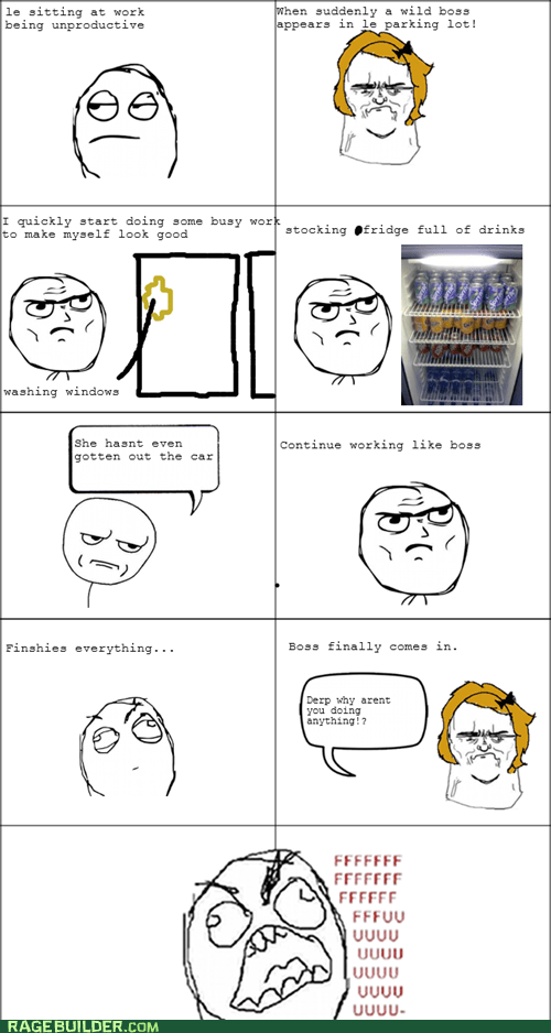 boss,productive,Rage Comics,work