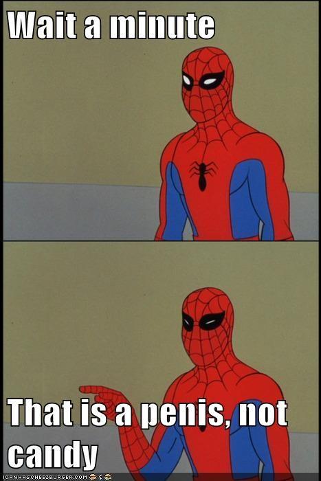candy no no tubes Spider-Man Super-Lols wtf - 5625875968
