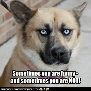Sometimes you are funny - and sometimes you are NOT!