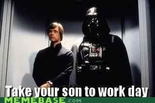 darth vader,Luke,Memes,son to work,star wars