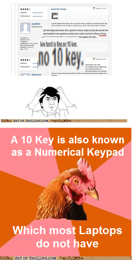 10 key anti joke chicken numerical keypad - 5626190336