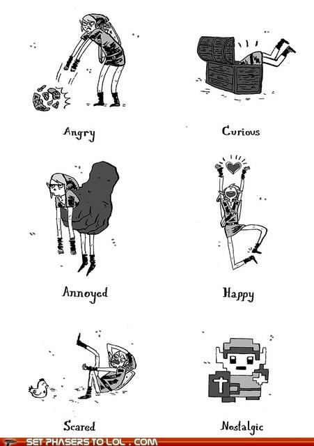 best of the week emotions legend of zelda link moods nostalgia video games - 5626267136
