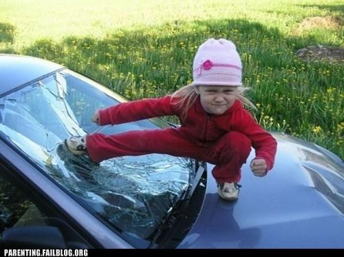 BAMF car g rated kick kid parenting Parenting Fail super powers - 5626275584