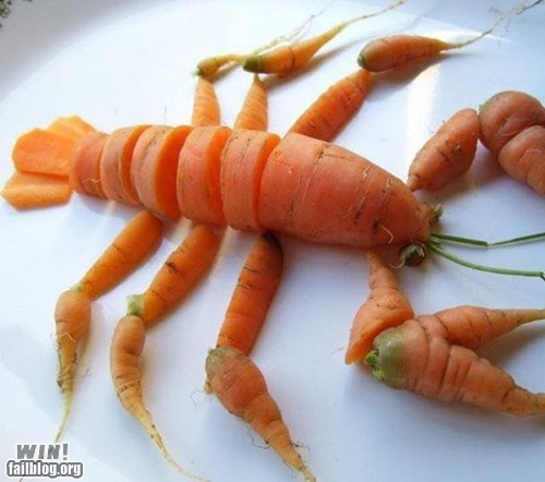 carrot,design,food,food art,lobster,vegetables
