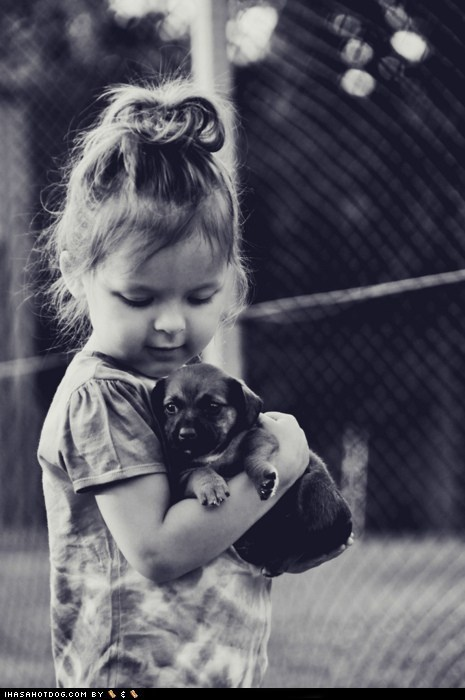 child,cyoot puppeh ob teh day,friends,girl,hug,kid,love,puppy