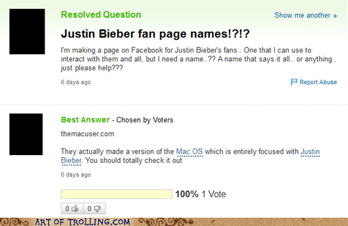 justin bieber shock sites the mac user Yahoo Answer Fails - 5626554368