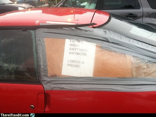 cars,duct tape,g rated,notes,signs,there I fixed it