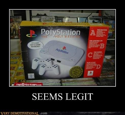 hilarious playstation polystation seems legit - 5626700544