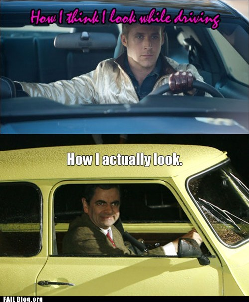 cars,driving,fail nation,fantasy,g rated,handsome man peach,mr-bean,reality,Ryan Gosling