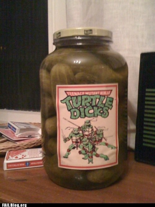 classic jar p33n pickles teenage mutant ninja turtles - 5626834432