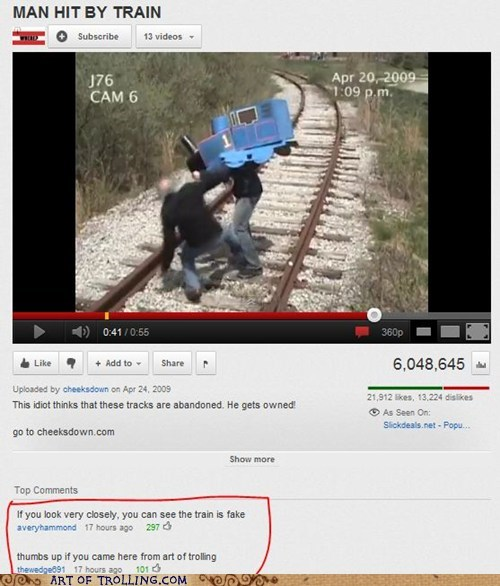 AoT man hit by train Video youtube - 5626969856