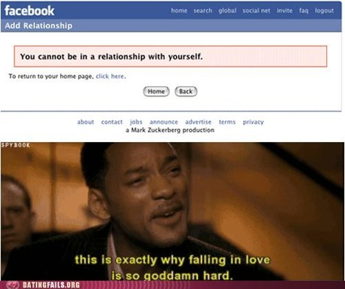 facebook,hitch,relationship status,self love,will smith