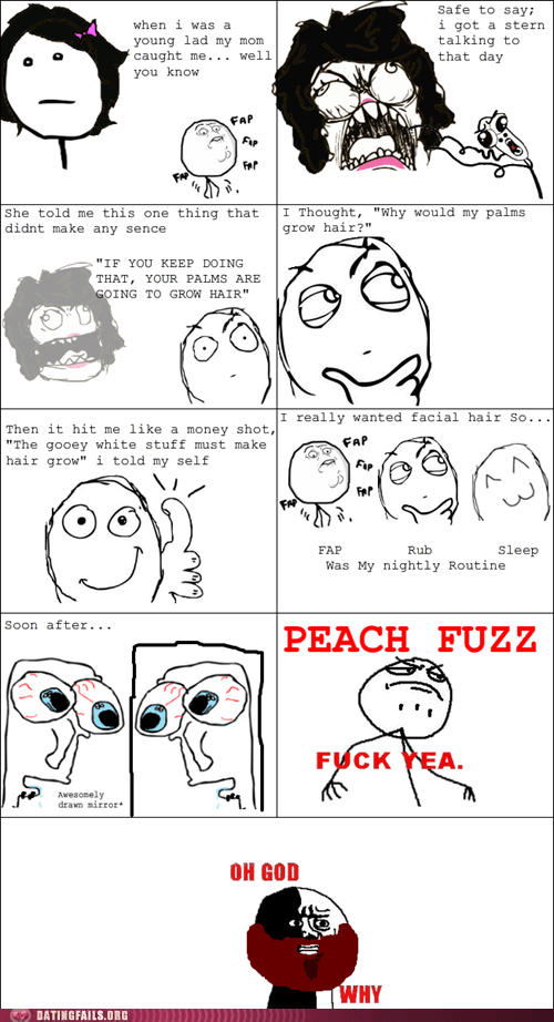 facial hair fapping oh god why rage comic - 5627033344