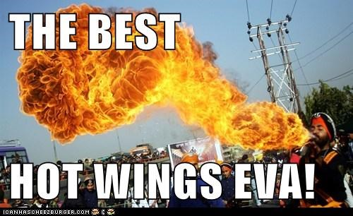 awesome delicious fire food hot wings noms spitting fire - 5627072512