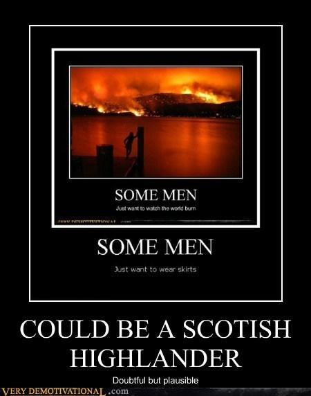 highlander hilarious kilt man scottish skirt - 5628792576
