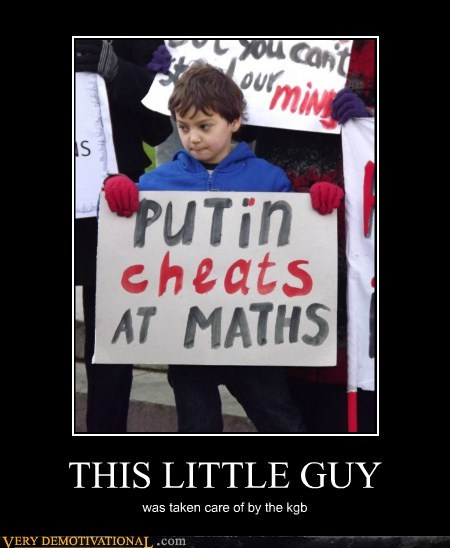THIS LITTLE GUY was taken care of by the kgb