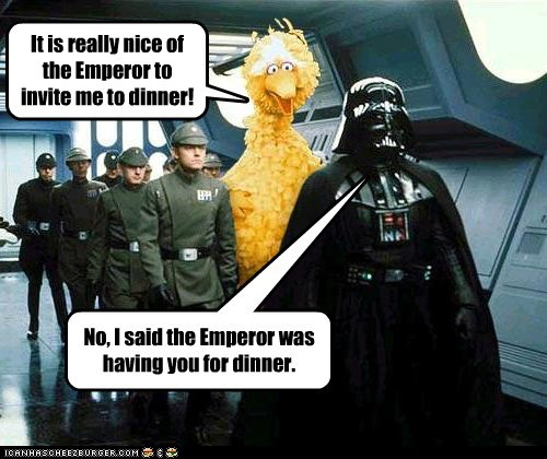 big bird,darth vader,funny,Hall of Fame,Movie,Sesame Street,star wars