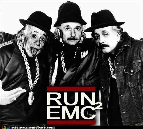 emc2 einstein hip hop Memes Professors Run DMC - 5631284992