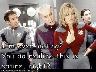 acting Alan Rickman galaxy quest over satire sigourney weaver tim allen
