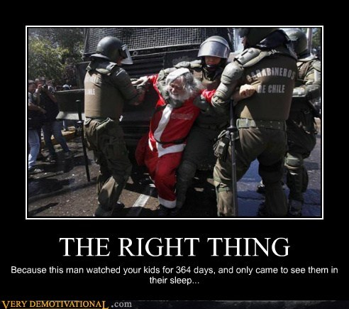 hilarious,right thing,santa,voyeur