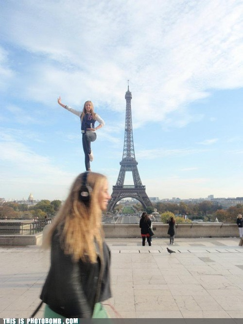 best of week cheerleader eiffel tower paris Perfect Timing