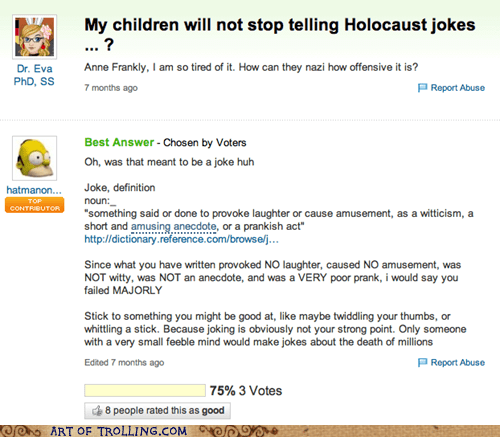 holocaust jokes not funny Yahoo Answer Fails - 5633111040