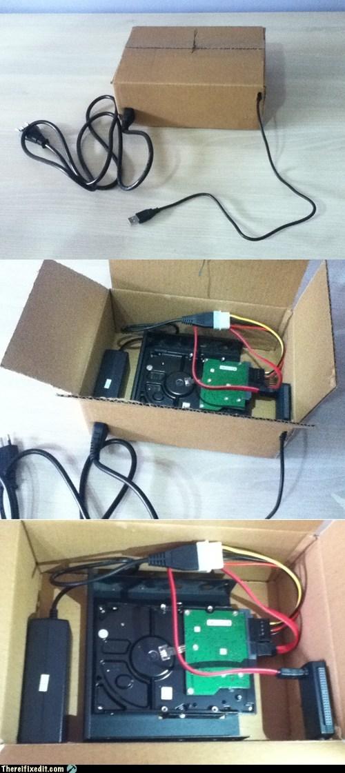 cardboard,hard drive,portable