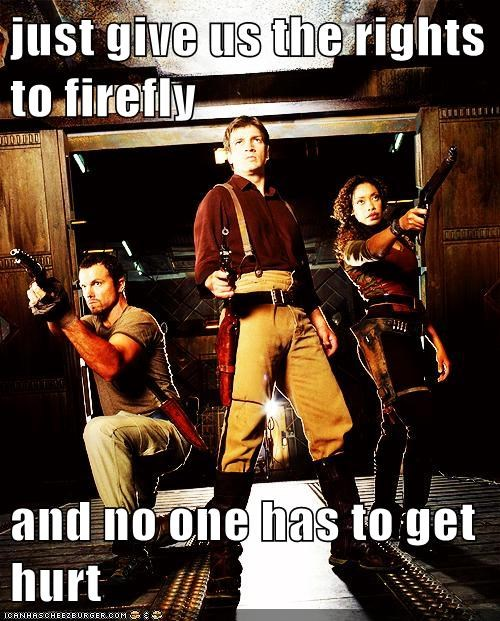 adam baldwin captain malcolm reynolds Firefly gina torres hurt jayne cobb nathan fillion rights robbery serenity zoe washburn - 5633882368