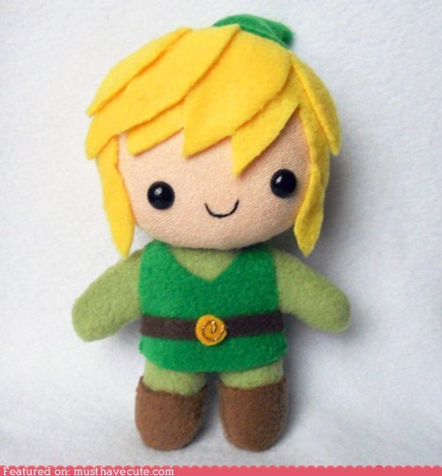 felt fleece legend of zelda link Plush - 5634098176