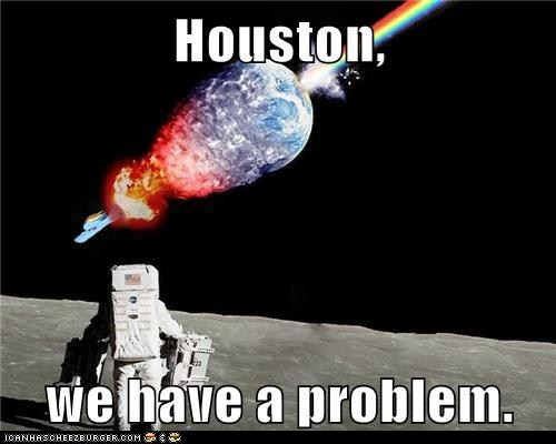 houston houston we have a problem Nyan Cat oops rainbow space