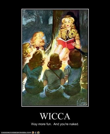 camp camping demotivator girl scouts wicca - 5637226752