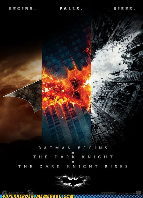 Awesome Art batman begins best of week falls movies rises trilogy - 5637445888