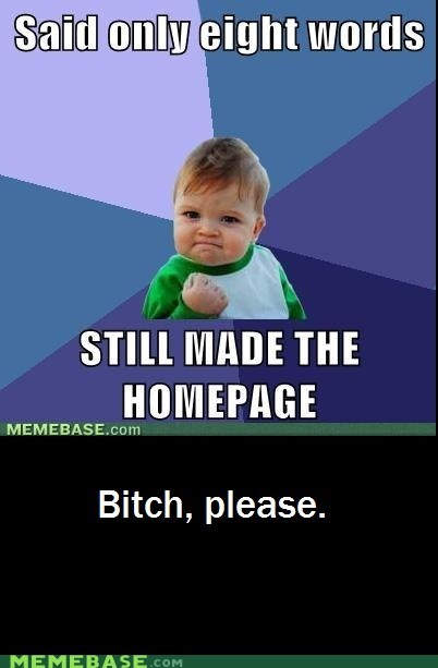 8 words home page referential success success kid - 5639015168
