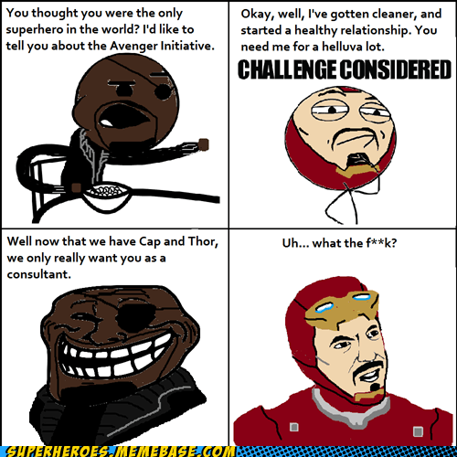 consultant iron man Nick Fury rage comic Super-Lols - 5639077376
