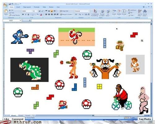 8-bit excel excel g rated M thru F pixels Videogames - 5639460608