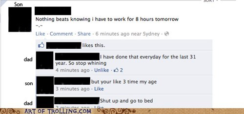 dad,facebook,owned,work
